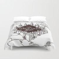 marauders Duvet Covers featuring MARAUDERS MAP by ThreeBoys