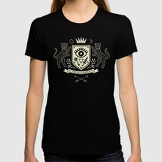 The Secret Society LARGE Black Womens Fitted Tee
