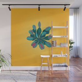 Venus Fly Trap on Gold Field Wall Mural