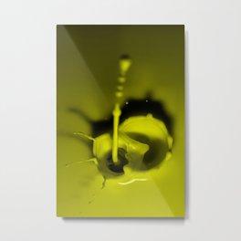 A Drop of Yellow Metal Print