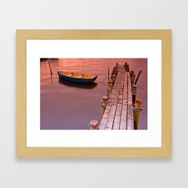 An Afternoon at the Jetty  Framed Art Print