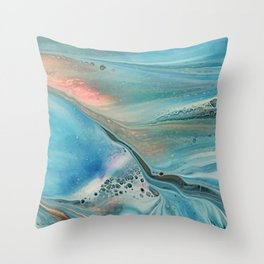 Pearl marble abstraction Throw Pillow