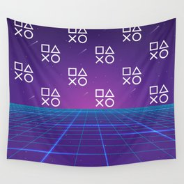 Vaporwave Playstation Neon Aesthetic Wall Tapestry