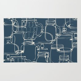 glass containers Rug