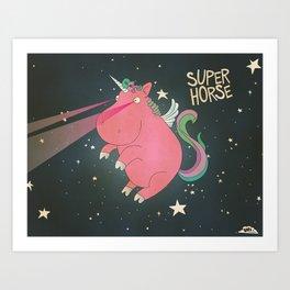 Super Horse... Unicorn Dreams. Art Print