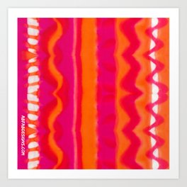 Montpellier Hand-painted Silk Art Print