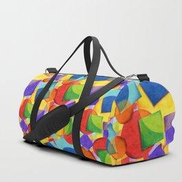 Candy Rainbow Circus Plaid Duffle Bag