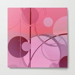 Ombré Pink Circle Pattern Abstract #1 Metal Print