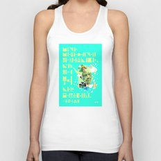 The Rain Said to The Wind, You Push & I'll Pelt. Unisex Tank Top