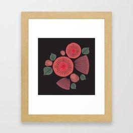 Vintage Floral Dark Framed Art Print