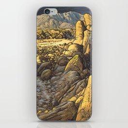 Rocky desert at sunset iPhone Skin