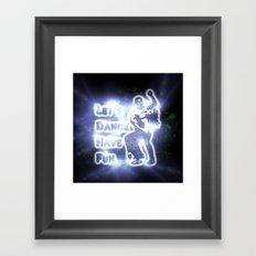 lets dance have fun Framed Art Print