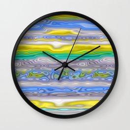Topography Stripe 3 Wall Clock