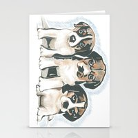 puppies Stationery Cards featuring Puppies 1 by JennFolds5 * Jennifer Delamar-Goss