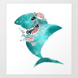 Laser Shark Art Print