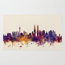 Kuala Lumpur Malaysia Skyline Rug