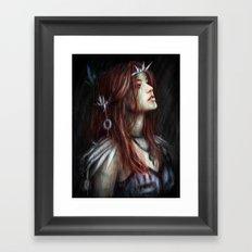 Silver Thorns Framed Art Print