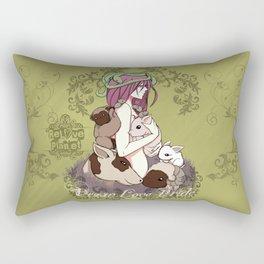 Vegan Love Pride Rectangular Pillow
