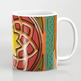 Celtic Knotwork panel in Persian Green Coffee Mug