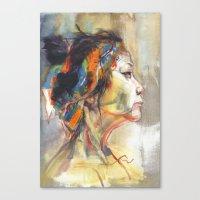 queen Canvas Prints featuring Queen by Josey Lee