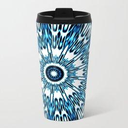 Blue White Black Explosion Travel Mug