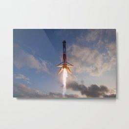 Rocket Landing Metal Print