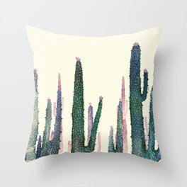 cactus water color Throw Pillow