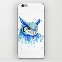 hedwig iPhone & iPod Skins featuring Color Hedwig  by Simona Borstnar