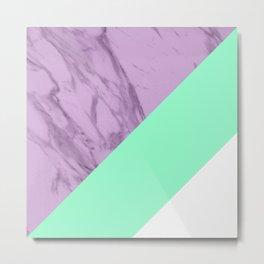 Lavender Marble Metal Print