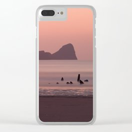 Sunset at Rhossili Bay South Wales Clear iPhone Case