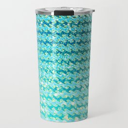 Mermaid Waves and Sea Foam, Sun Light over the Ocean Travel Mug