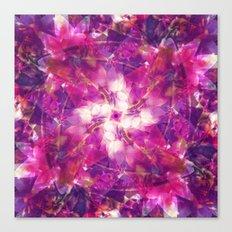 Pink Floral Mandala Canvas Print