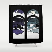 knight Shower Curtains featuring the knight  by Darthdaloon