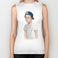 niall horan Biker Tanks featuring Niall Horan by Lunnorart