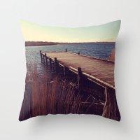 denmark Throw Pillows featuring Denmark by Elisabeth Mochner