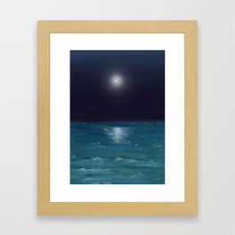 Sea in the Dark Framed Art Print