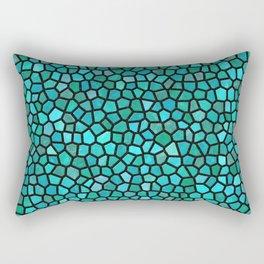 Teal Mosaic Rectangular Pillow