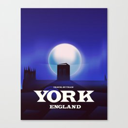 York Minster Vintage style Travel poster Canvas Print