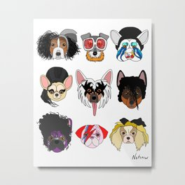 Pop Dogs Metal Print