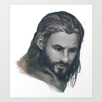 fili Art Prints featuring fili BnW by brilcrist