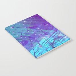 Venice Vaporwave Beach Meteor Light Show Notebook