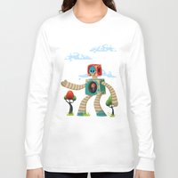 woody Long Sleeve T-shirts featuring Woody Mecha by Teodoru Badiu