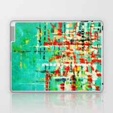 on my street -turquoise abstract Laptop & iPad Skin