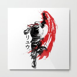 Traditional Fighter Metal Print
