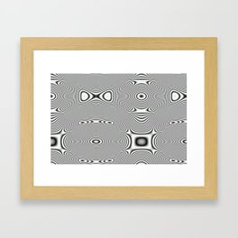 Bonitum B&W ripple Framed Art Print