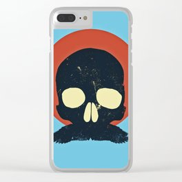 Skull With Stache Clear iPhone Case