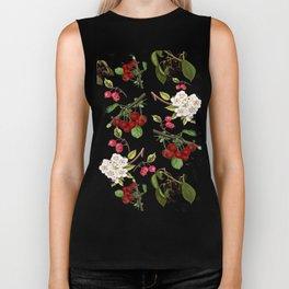 Cherries with Blossoms Biker Tank