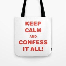 Awesome & Great Confess Tshirt Confess it all Tote Bag