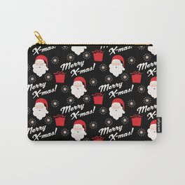 Merry Xmas Santa Claus Pattern Carry-All Pouch