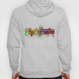 Angers skyline in watercolor background Hoody